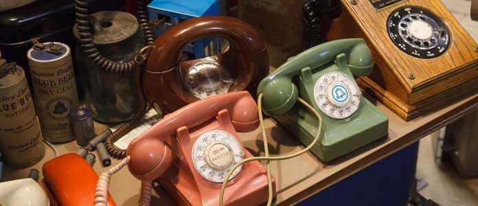 Old telephones at the Museum of Communication
